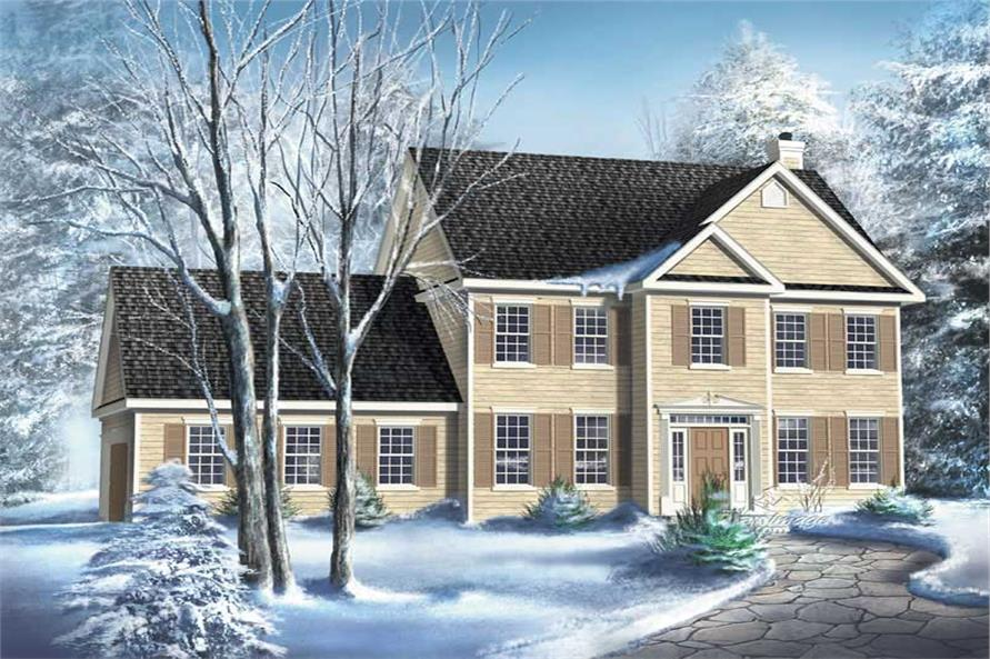 3-Bedroom, 1700 Sq Ft Multi-Level Home Plan - 157-1593 - Main Exterior