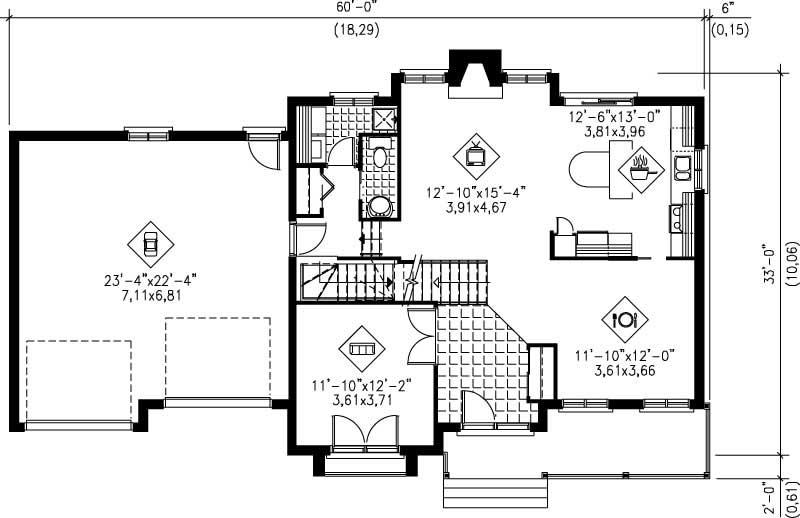 Multi level house plans home design pi 20540 12230 for Multi level home floor plans