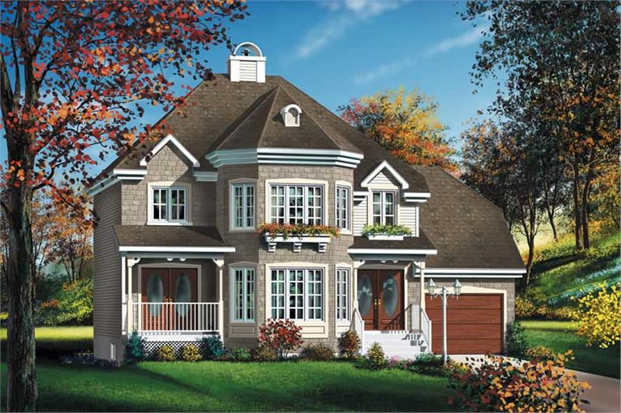 4-Bedroom, 1730 Sq Ft European Home Plan - 157-1595 - Main Exterior