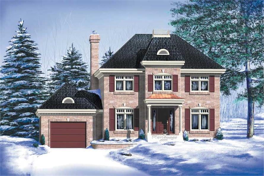 3-Bedroom, 1836 Sq Ft Multi-Level Home Plan - 157-1596 - Main Exterior