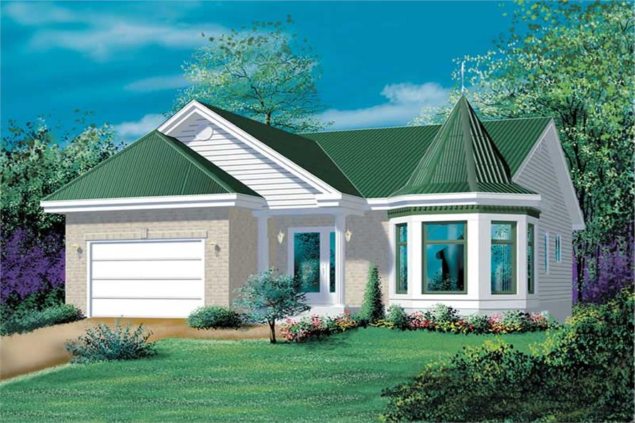 2-Bedroom, 1056 Sq Ft Bungalow Home Plan - 157-1604 - Main Exterior