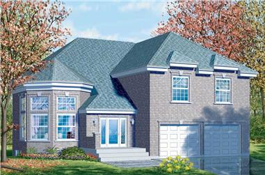 4-Bedroom, 2620 Sq Ft European Home Plan - 157-1605 - Main Exterior
