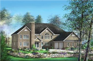 4-Bedroom, 4257 Sq Ft Luxury Home Plan - 157-1607 - Main Exterior