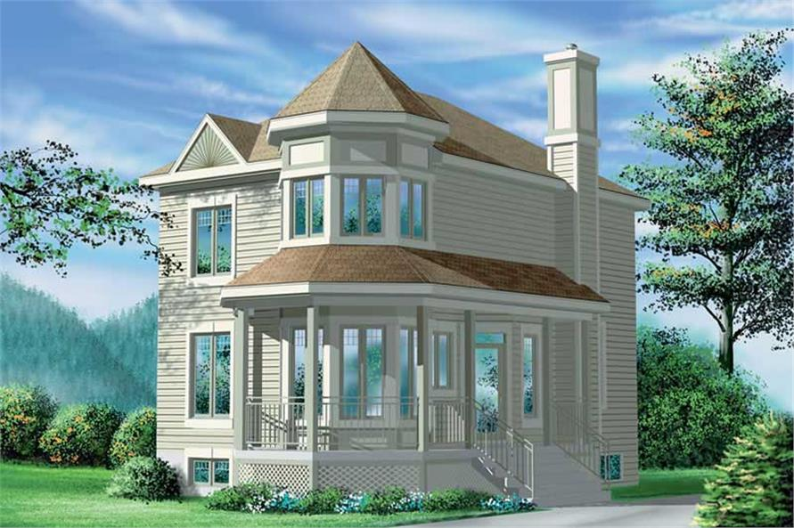2-Bedroom, 1429 Sq Ft Small House Plans - 157-1608 - Main Exterior