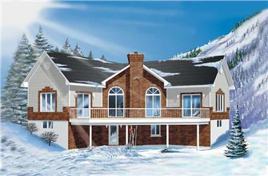 3-Bedroom, 2251 Sq Ft Country Home Plan - 157-1611 - Main Exterior