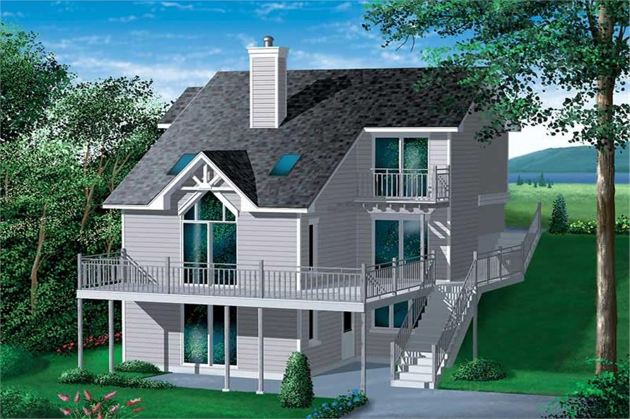 4-Bedroom, 2119 Sq Ft Country House Plan - 157-1612 - Front Exterior