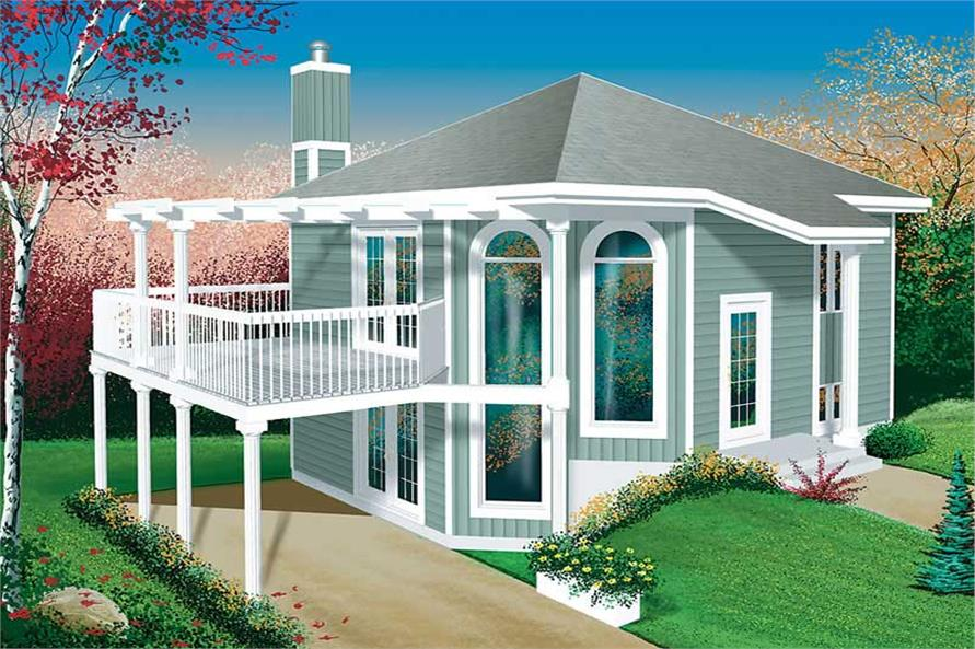 1-Bedroom, 1062 Sq Ft Country House Plan - 157-1614 - Front Exterior