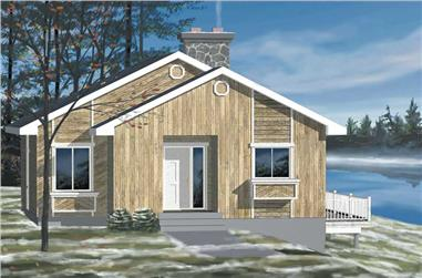 2-Bedroom, 946 Sq Ft Country House Plan - 157-1615 - Front Exterior