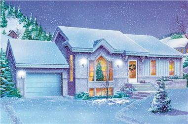2-Bedroom, 1145 Sq Ft Country House Plan - 157-1616 - Front Exterior