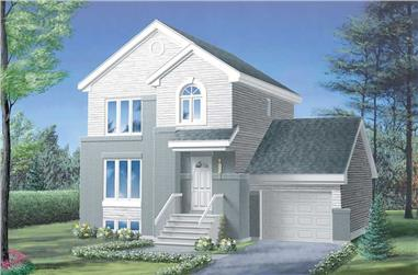 3-Bedroom, 1196 Sq Ft Craftsman House Plan - 157-1617 - Front Exterior