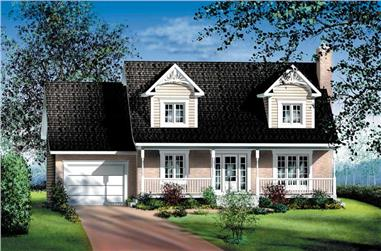 4-Bedroom, 1564 Sq Ft Cape Cod House Plan - 157-1618 - Front Exterior