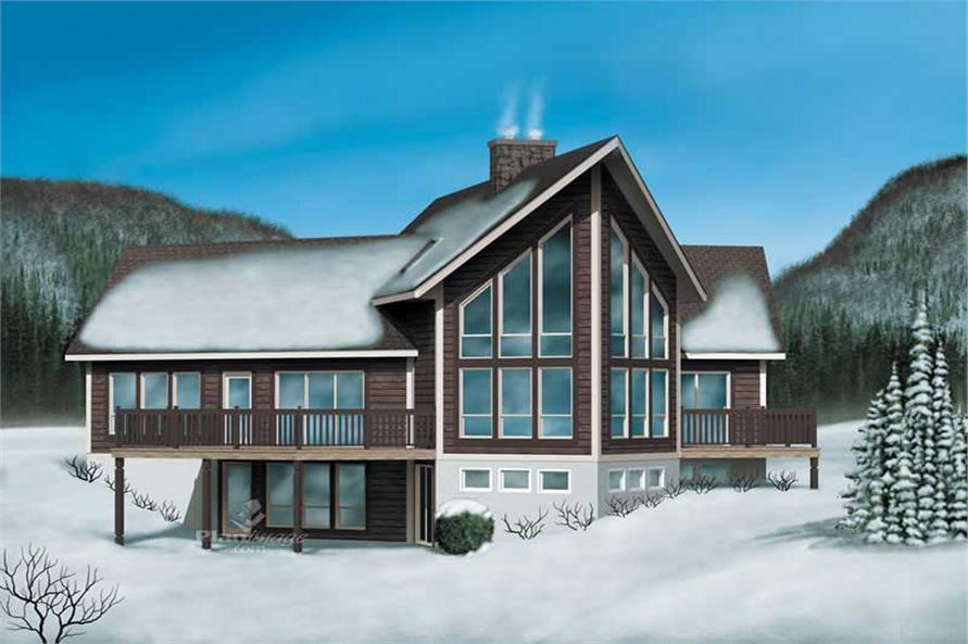 4-Bedroom, 2861 Sq Ft Country Home Plan - 157-1619 - Main Exterior