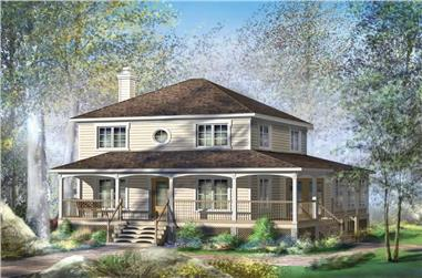 3-Bedroom, 1830 Sq Ft Country Home Plan - 157-1620 - Main Exterior