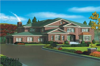 4-Bedroom, 3966 Sq Ft European Home Plan - 157-1621 - Main Exterior