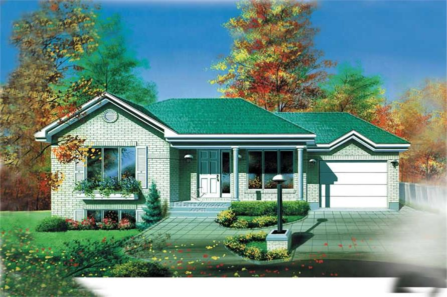 2-Bedroom, 919 Sq Ft Colonial House Plan - 157-1623 - Front Exterior