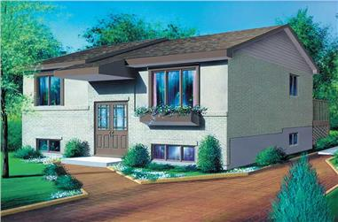 2-Bedroom, 832 Sq Ft Small House Plans - 157-1624 - Front Exterior