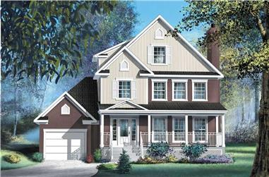 2-Bedroom, 2015 Sq Ft Country House Plan - 157-1626 - Front Exterior