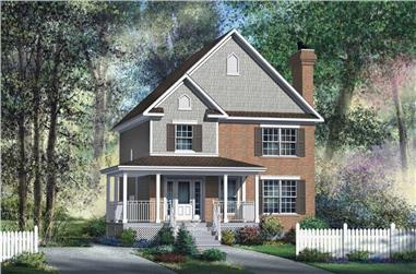 3-Bedroom, 1500 Sq Ft Ranch House Plan - 157-1627 - Front Exterior