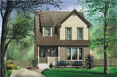 3-Bedroom, 1367 Sq Ft Ranch House Plan - 157-1631 - Front Exterior