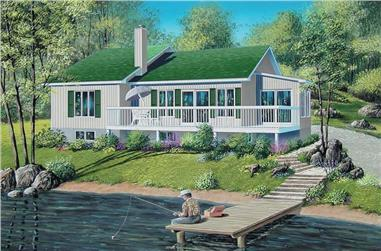 3-Bedroom, 1445 Sq Ft Country Home Plan - 157-1632 - Main Exterior