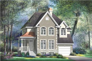 3-Bedroom, 1910 Sq Ft Multi-Level House Plan - 157-1633 - Front Exterior