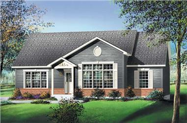 3-Bedroom, 1292 Sq Ft Ranch House Plan - 157-1635 - Front Exterior