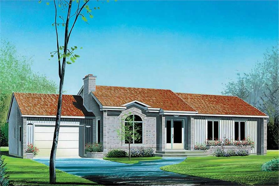 3-Bedroom, 1310 Sq Ft Country House Plan - 157-1639 - Front Exterior