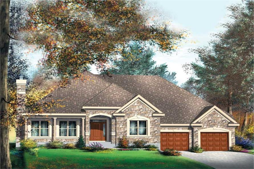 3-Bedroom, 1719 Sq Ft Country Home Plan - 157-1640 - Main Exterior