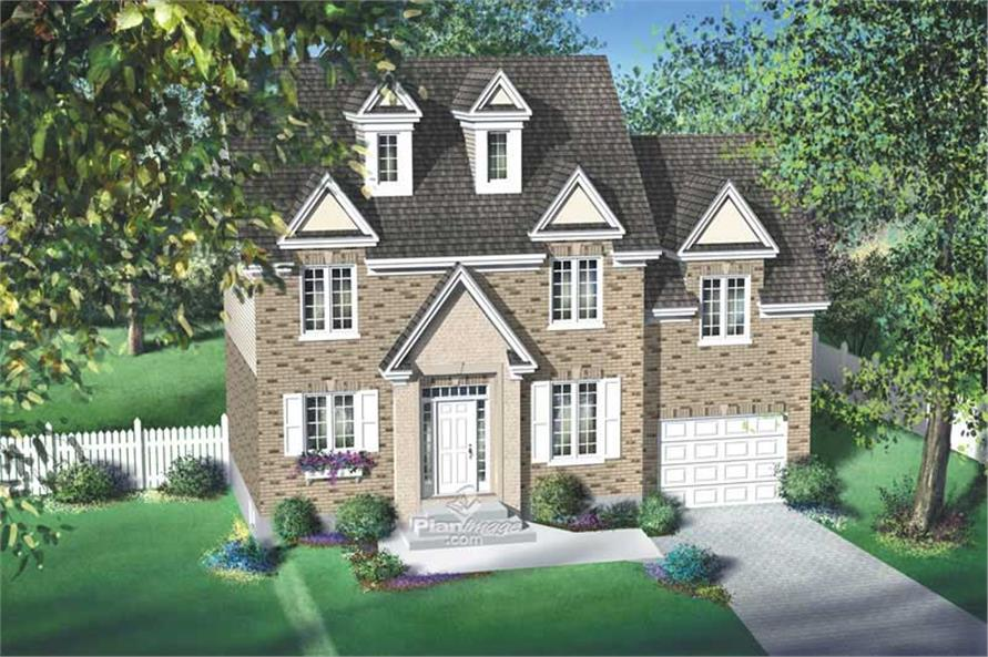 3-Bedroom, 1652 Sq Ft Multi-Level House Plan - 157-1641 - Front Exterior