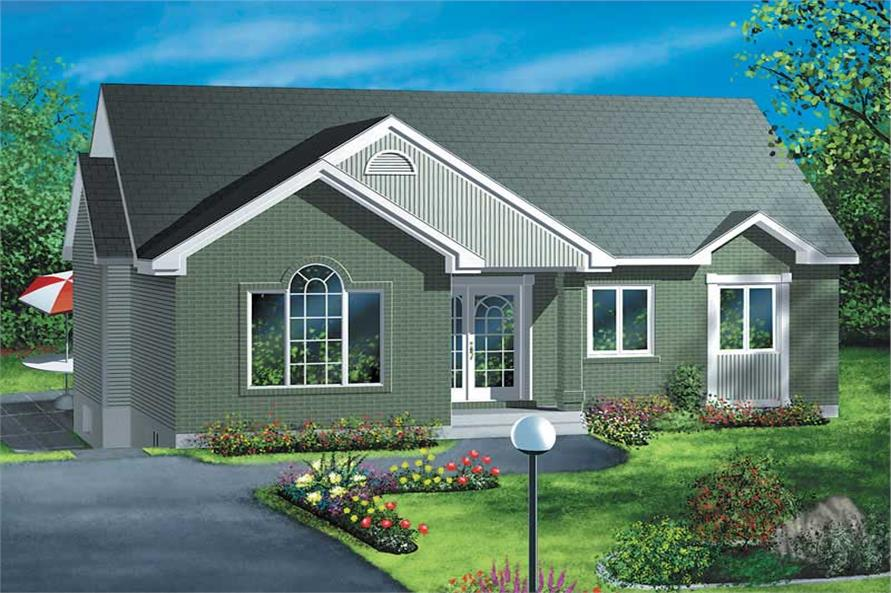 2-Bedroom, 998 Sq Ft Small House Plans - 157-1643 - Main Exterior