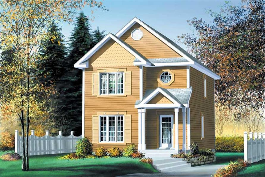 3-Bedroom, 1306 Sq Ft Small House Plans - 157-1644 - Front Exterior