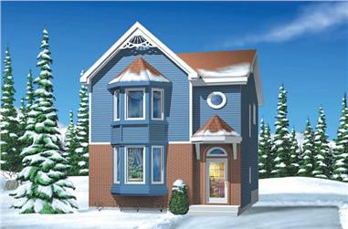 3-Bedroom, 1330 Sq Ft Craftsman Home Plan - 157-1646 - Main Exterior