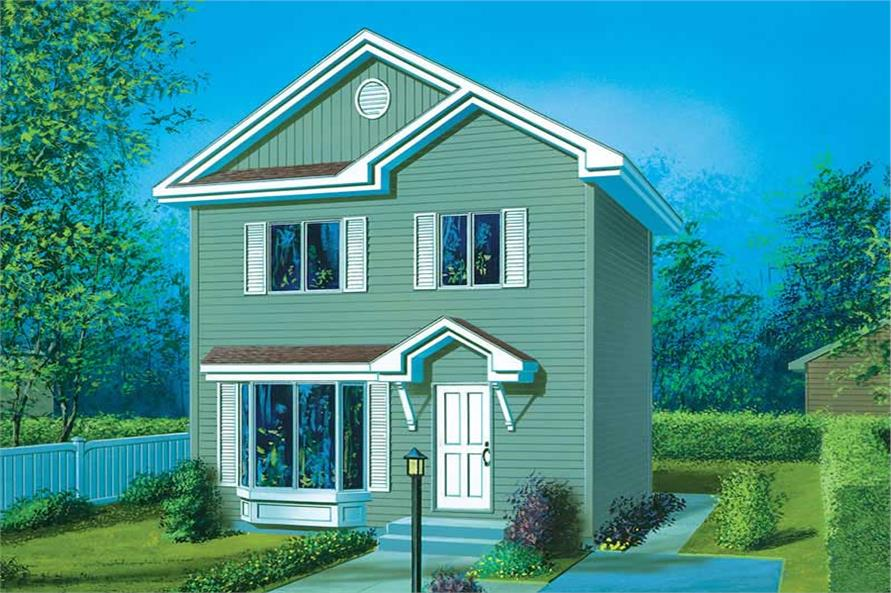 1-Bedroom, 910 Sq Ft Small House Plans - 157-1647 - Front Exterior