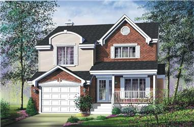 3-Bedroom, 1742 Sq Ft Country House Plan - 157-1650 - Front Exterior