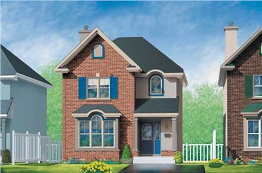 3-Bedroom, 1305 Sq Ft Craftsman Home Plan - 157-1651 - Main Exterior