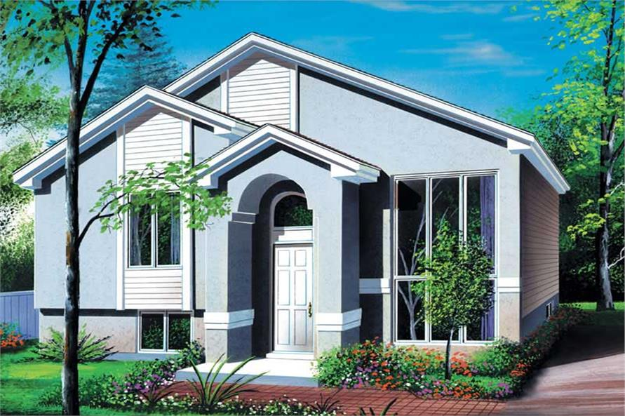2-Bedroom, 944 Sq Ft Small House Plans - 157-1653 - Main Exterior