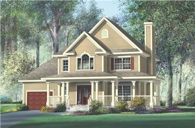 3-Bedroom, 1708 Sq Ft Multi-Level House Plan - 157-1654 - Front Exterior