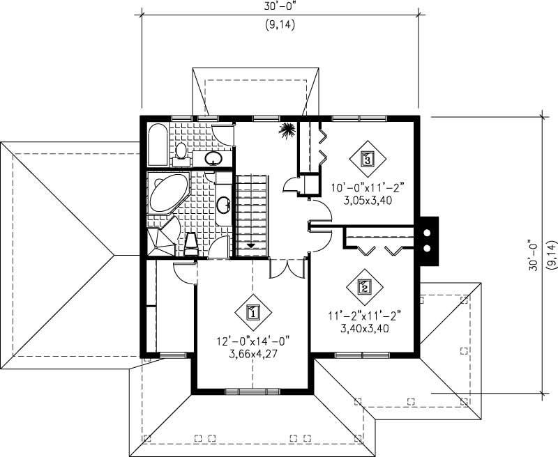 Multi level house plans home design pi 20011 12195 for Multi level floor plans