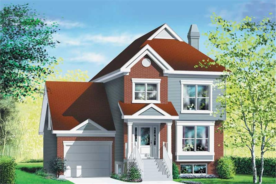 3-Bedroom, 1809 Sq Ft Ranch Home Plan - 157-1655 - Main Exterior