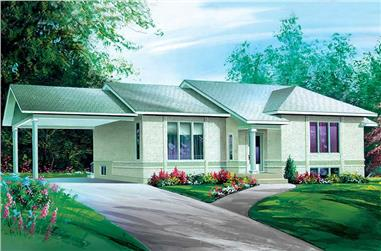 2-Bedroom, 1168 Sq Ft Ranch House Plan - 157-1657 - Front Exterior