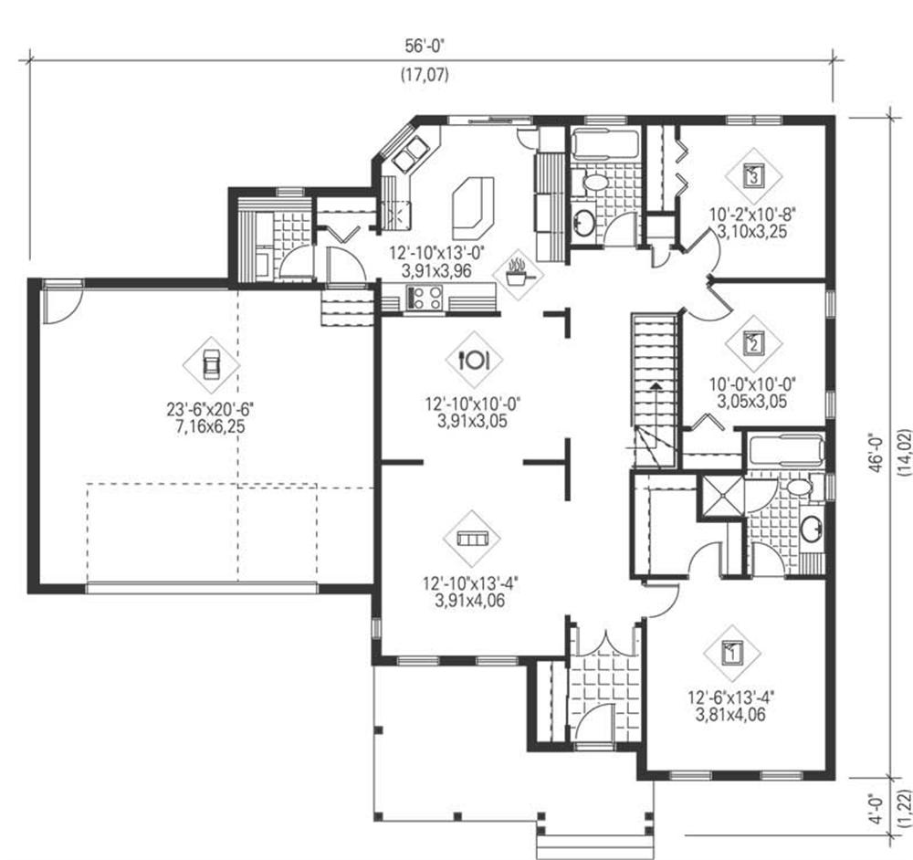 Large images for house plan 157 1658 for Home plan collection