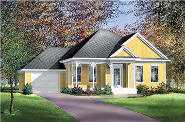 2-Bedroom, 1435 Sq Ft Ranch House Plan - 157-1659 - Front Exterior
