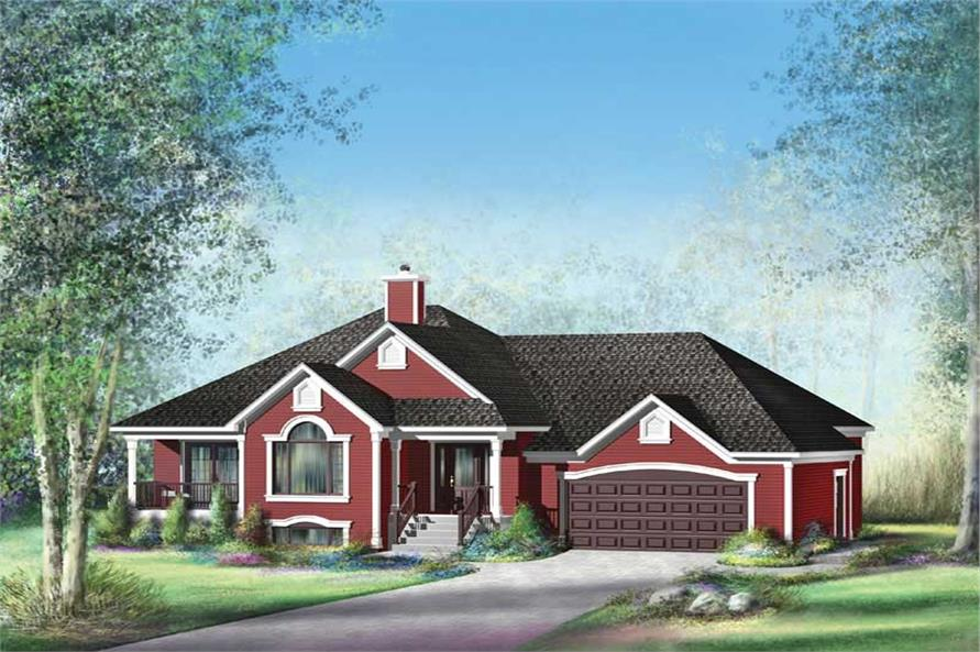 3-Bedroom, 1935 Sq Ft Country House Plan - 157-1662 - Front Exterior