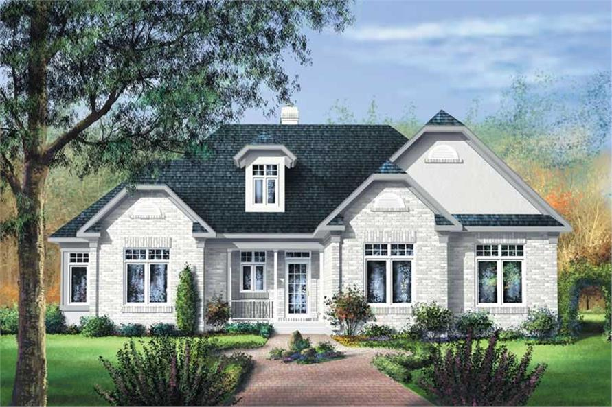 3-Bedroom, 1630 Sq Ft Bungalow House Plan - 157-1663 - Front Exterior