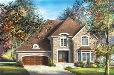3-Bedroom, 2535 Sq Ft Multi-Level Home Plan - 157-1664 - Main Exterior