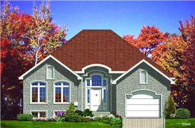 2-Bedroom, 1184 Sq Ft Bungalow House Plan - 158-1000 - Front Exterior