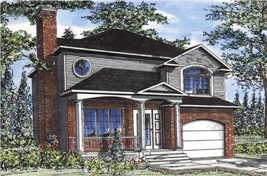 3-Bedroom, 1371 Sq Ft European Home Plan - 158-1001 - Main Exterior