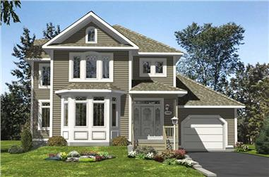 3-Bedroom, 1788 Sq Ft Country Home Plan - 158-1005 - Main Exterior