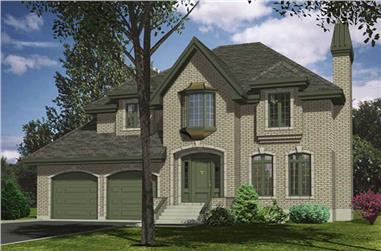 4-Bedroom, 2437 Sq Ft European Home Plan - 158-1006 - Main Exterior