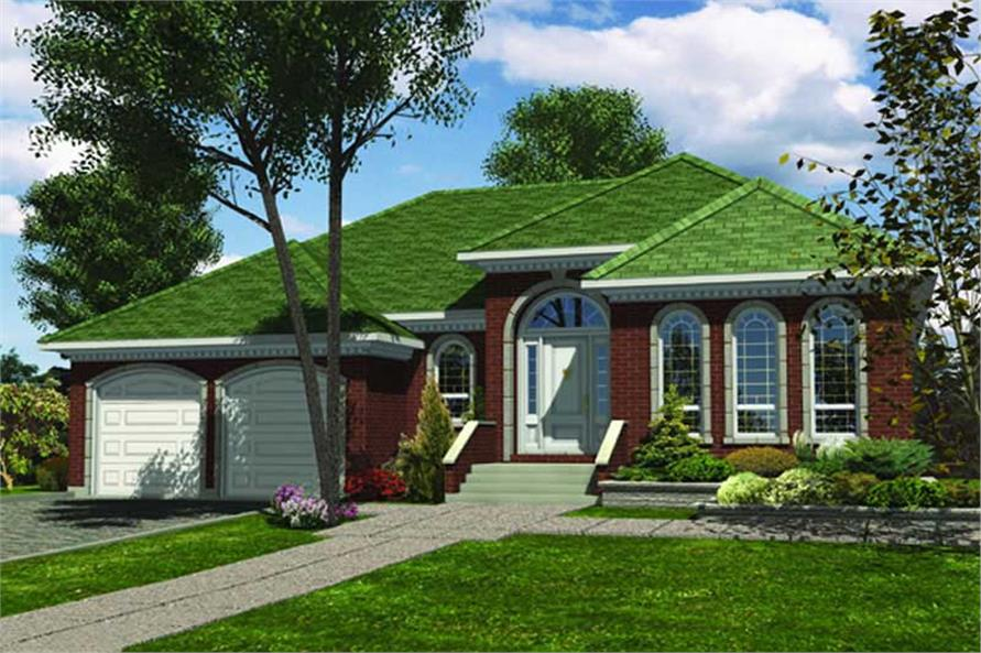 3-Bedroom, 1441 Sq Ft Ranch House Plan - 158-1007 - Front Exterior